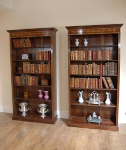 Regency Sheraton Open Bookcases
