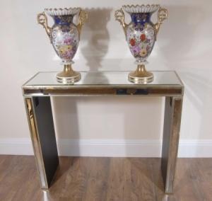 Art Deco Espelhado Console de mesa