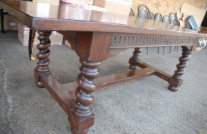 refectory table barley twist legs
