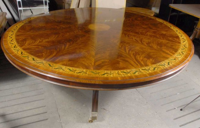 5 ft English Victorian Round Dining Table in Santos Rosewood