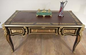 Fransk Boulle inlay skrivepult byrå plat tabellen pulter