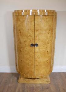 Art Deco Walnut Crinkle Chest Schubladen Schrank Kommode