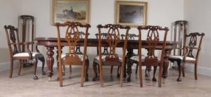 14 Нога английский викторианский Обеденный стол и готические Установить Председатель Чиппендейл