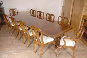 Regency Table & Set Queen Anne Spisestuestoler