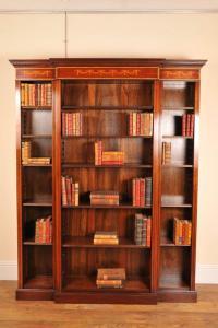 Englisch Sheraton Open Breakfront Bücherregal