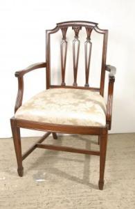 设置8 Hepplewhite英语红木餐桌椅