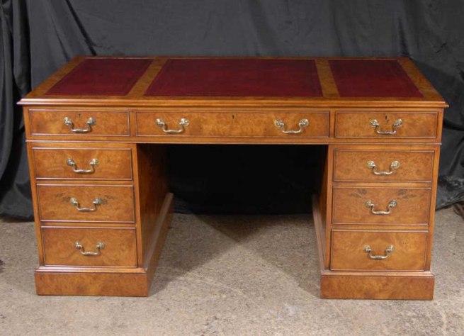 English George II Walnut Writing Desk Georgian Desks