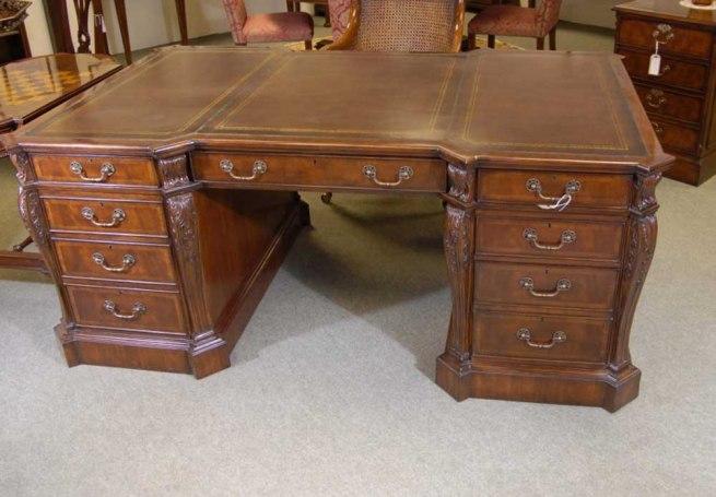 English Mahogany Victorian Partners Desk Desks