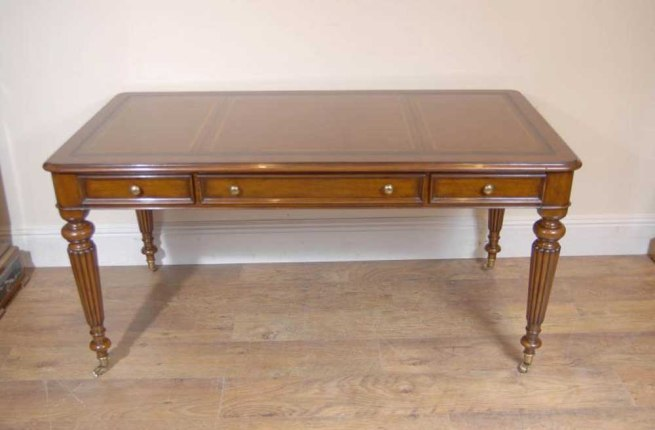 English Victorian Gillows Writing Desk Table Bureau
