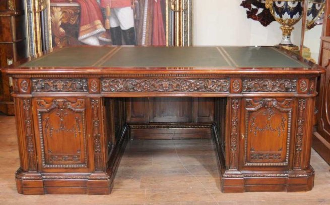 Mahogany Presidents Desk Resolute Partners Desks