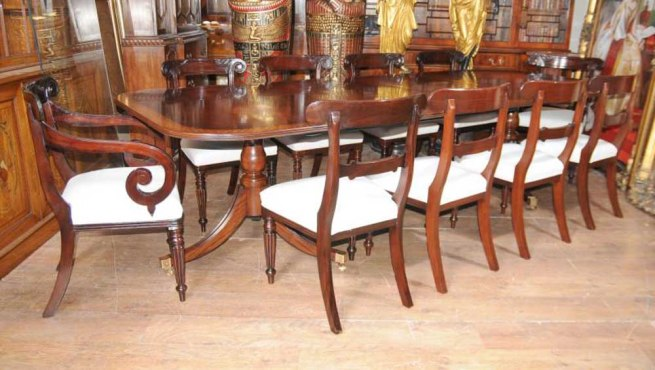 Regency Mahogany Dining Set William IV Chairs Table Suite