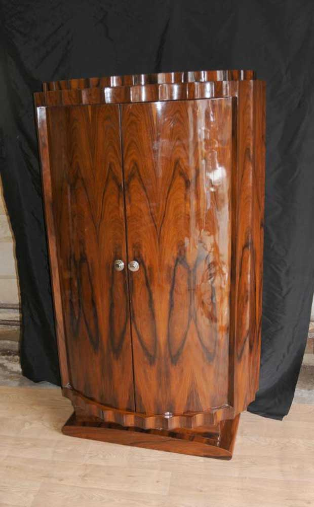 Tall Art Deco Crinkle Cabinet Wardrobe Furniture