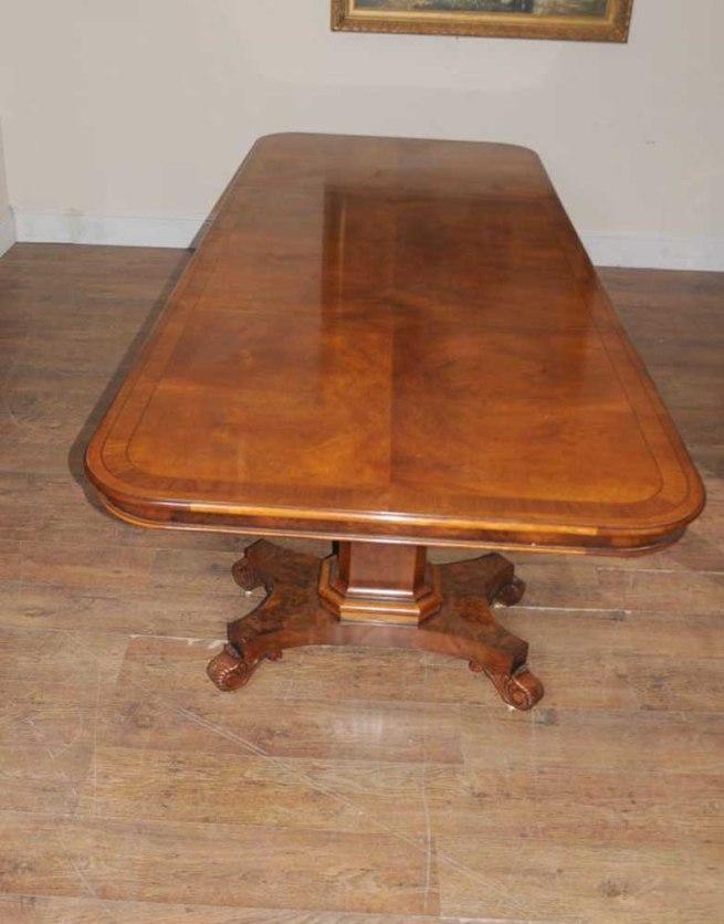 Walnut Regency Extending Dining Table 14 ft Diner