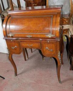 French Louis XV Roll Top Desk Bureau Table
