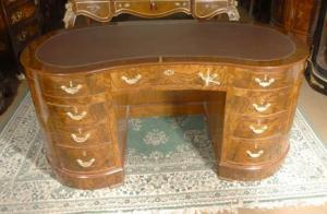 Walnut Victorian Kidney Bean Desk Desks Furniture