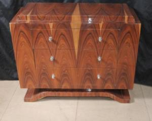 Art Deco Rosewood Chest Drawers Commode