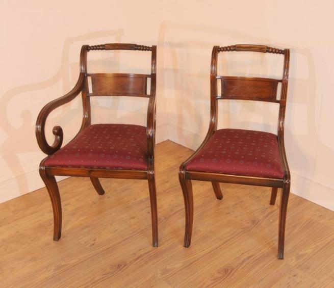 10 Edwardian Mahogany Dining Chairs Diner