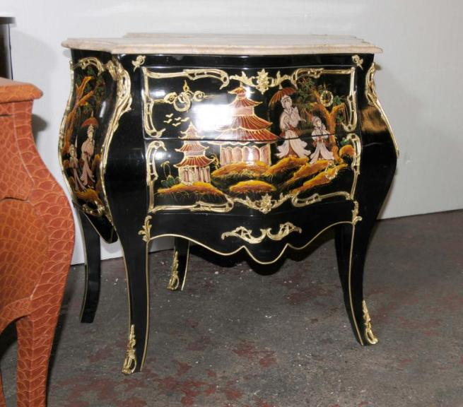 Single French Chinese Laquer Chest Commode