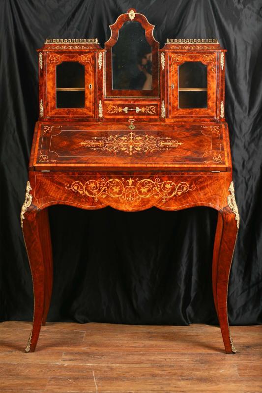 Antique Victorian Bureau Desk Bonheur Du Jour 1880