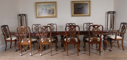 George Ii Dining Chairs & Victorian Table Set