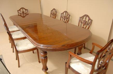 Victorian Dining Set Table & Adams Mahogany Chairs