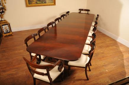 Regency Pedestal Dining Table & Chairs Set Suite