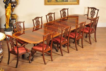 Regency Pedestal Dining Table Mahogany Diner Tables