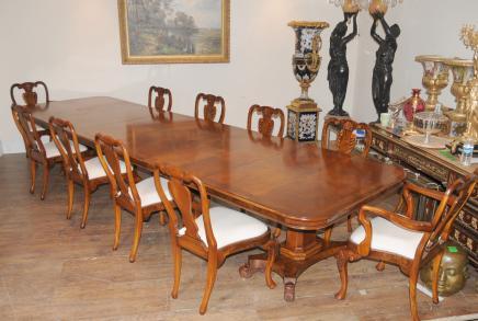 Walnut Regency Extending Dining Table