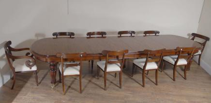 English Victorian Extending Mahogany Dining Table Tables