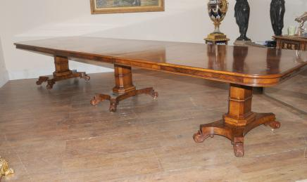 Walnut Regency Extending Dining Table