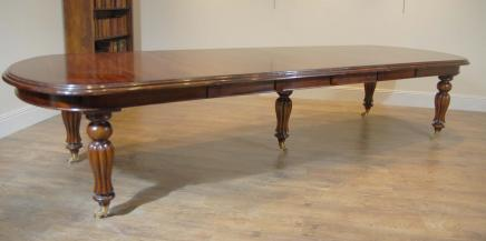 12 Foot English Victorian Mahogany Dining Table