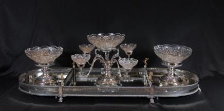 English Sheffield Silver Plate Centrepiece