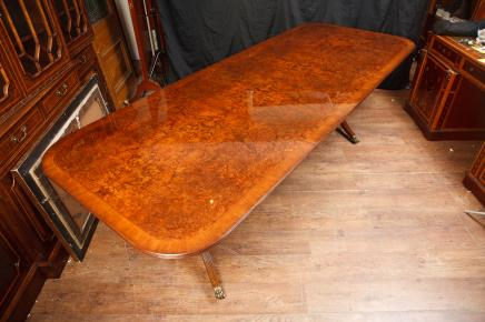 Pedestal Dining Table Walnut Extending Tables