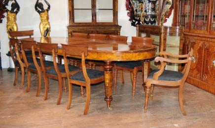 Antique Dining Set - Victorian Table and Chairs