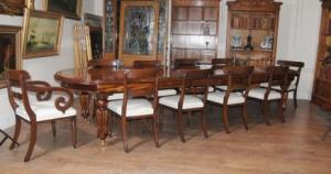 Victorian Dining Set Mahogany Table William IV Chairs