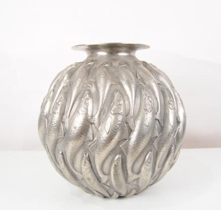 Bronze Lalique Marisa Goldfish Bowl Art Nouveau