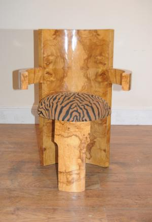 Art Deco Arm Chair Modernist Vintage Chairs