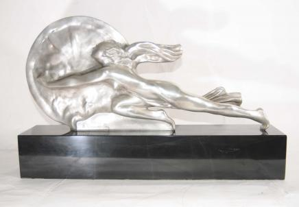 Art Deco Bronze Signed Gennarelli Towards Destiny