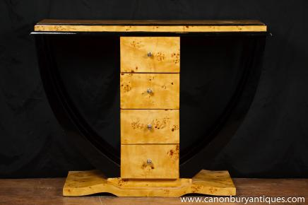 Art Deco Console Table Chest Drawers Interiors Furniture