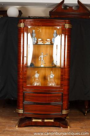 Art Deco Display Cabinet Vitrine Chest Cupboard Furniture