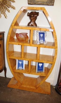 Art Deco Egg Bookcase Shelf Unit Modernist