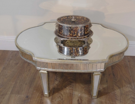 Art Deco Glass Mirrored Coffee Table Mirror Tables Furniture
