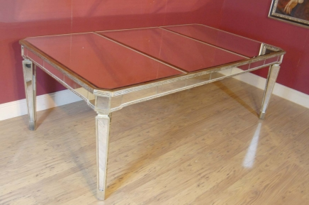 Art Deco Mirrored Dining Table Desk Mirror Furniture