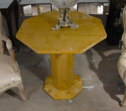 Art Deco Octagonal Walnut Side Table