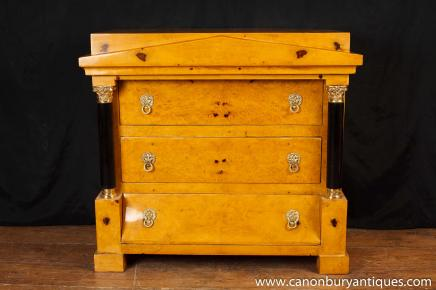 Biedermeier Chest Drawers Commode Empire Walnut Furniture Chests