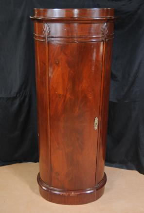 Biedermeier Walnut Chest Pillar Cabinet Deco Furniture