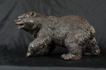 Bronze American Grizzly Bear Statue Brown Bear Animal Sculpture