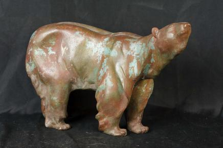 Bronze Polar Bear Statue Arctic Creature Animal