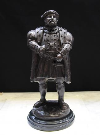 Bronze Statue English King Henry VIII British Monarch Tudors