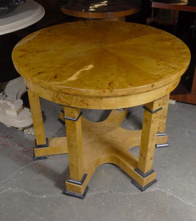 English Walnut Art Deco Biedermeir Table Tables